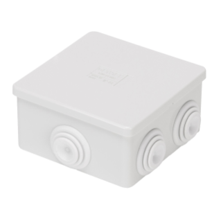 JUNCTION BOX WITH PLAIN PRESS-ON LID - IP44 - INTERNAL DIMENSIONS 80X80X40 - WALLS WITH CABLE GLANDS - GWT960ºC - GREY RAL 7035