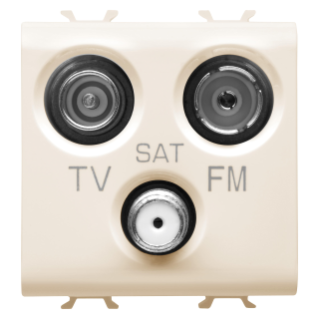 SOCKET-OUTLET TV-FM-SAT - DIRECT - 2 MODULES - IVORY - CHORUS