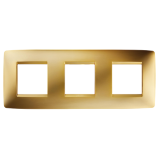 ONE INTERNATIONAL PLATE - IN METALLISED TECHNOPOLYMER - 2+2+2 GANG HORIZONTAL - GOLD - CHORUS