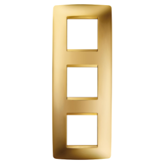 ONE INTERNATIONAL PLATE - IN METALLISED TECHNOPOLYMER - 2+2+2 GANG VERTICAL - GOLD - CHORUS