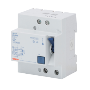 RESIDUAL CURRENT CIRCUIT BREAKER - 2P 40A TYPE B [IR]IMPULSE RESISTANT Idn=0,03A - 4 MODULES