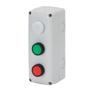 ENCLOSURES COMPLETE WITH OPERATOR - 3 GANGS - 1NO 1NC - START / STOP / INDICATOR - IP66