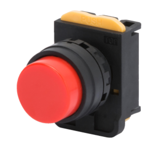 MOMENTARY PUSH-BUTTON WITHOUT ROUND GUARD - RED