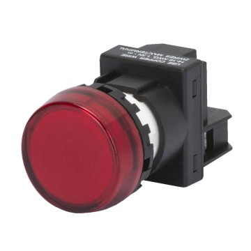 Round backlit indicators with direct supply nominal voltage 230 V - BA9S lamp fixing