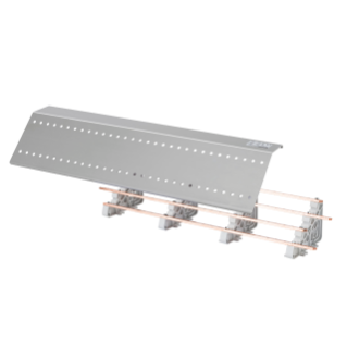 HORIZONTAL FOUR POLE DIVIDER - 400A - 850x150x70MM - 35 MODULES - ON FUNCTIONAL PROFILE - FOR QDX 630L/H-1600H