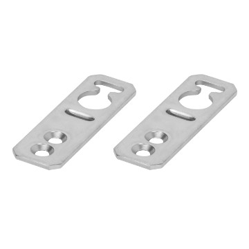 Set of 2 metal brackets for wall-mounting fixing