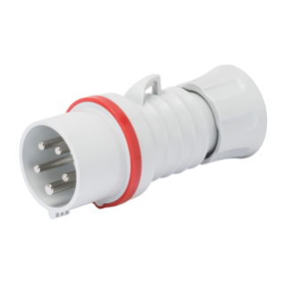 STRAIGHT PLUG HP - WITH FASE INVERTER - IP44/IP54 - 3P+N+E 32A 380-415V - RED - 6H - SREW WIRING