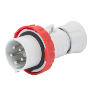 STRAIGHT PLUG HP - WITH FASE INVERTER - IP66/IP67/IP68/IP69 - 3P+N+E 32A 380-415V - RED - 6H - SREW WIRING