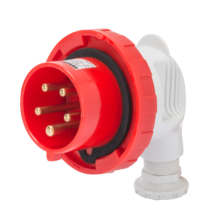 90° PLUG - IP67 - 3P+E 32A 380-440V 50/60HZ - RED - 3H - SCREW WIRING