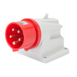 90° ANGLED SURFACE MOUNTING INLET - IP44 - 2P+E 32A 380-415V 50/60HZ - RED - 9H - SCREW WIRING