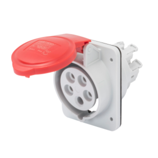 10° ANGLED FLUSH-MOUNTING SOCKET-OUTLET HP - IP44/IP54 - 3P+N+E 16A 380-415V 50/60HZ - RED - 6H - FAST WIRING