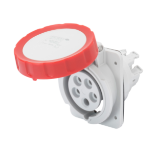 10° ANGLED FLUSH-MOUNTING SOCKET-OUTLET HP - IP66/IP67 - 2P+E 16A 380-415V 50/60HZ - RED - 9H - FAST WIRING