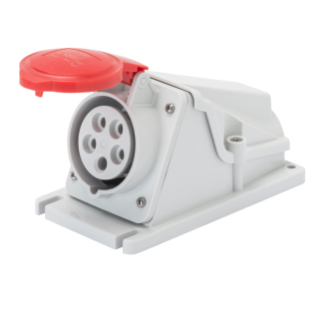 90° ANGLED SURFACE-MOUNTING SOCKET-OUTLET - IP44 - 3P+N+E 16A 380-415V 50/60HZ - RED - 6H - SCREW WIRING