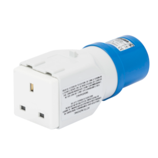 SYSTEM ADAPTOR - FROM INDUSTRIAL TO DOMESTIC IP44 - SOCKET-OUTLET 2P+E 16A 230V ac 50/60HZ - 1 PLUG 2P+E 13A BRITISH STD.