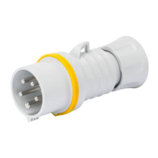 STRAIGHT PLUG HP - IP44/IP54 - 3P+N+E 32A 100-130V 50/60HZ - YELLOW - 4H - SCREW WIRING