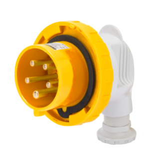 90° PLUG - IP67 - 2P+E 16A 100-130V 50/60HZ - YELLOW - 4H - SCREW WIRING