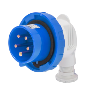 90° PLUG - IP67 - 3P+N+E 16A 200-250V 50/60HZ - BLUE - 9H - SCREW WIRING