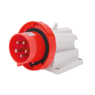 90° ANGLED SURFACE MOUNTING INLET - IP67 - 2P+E 16A 380-415V 50/60HZ - RED - 9H - SCREW WIRING
