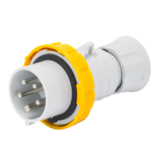 STRAIGHT PLUG HP - IP66/IP67/IP68/IP69 - 3P+N+E 32A 100-130V 50/60HZ - YELLOW - 4H -  FAST WIRING