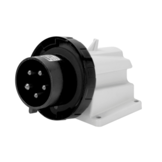 90° ANGLED SURFACE MOUNTING INLET - IP67 - 3P+N+E 16A 480-500V 50/60HZ - BLACK - 7H - SCREW WIRING