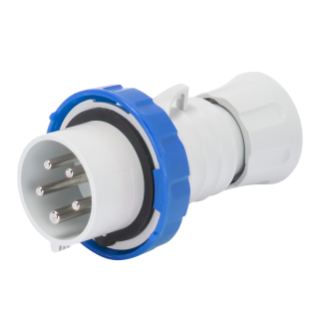 STRAIGHT PLUG HP - IP66/IP67/IP68/IP69 - 3P+N+E 32A 200-250V 50/60HZ - BLUE - 9H - SCREW WIRING