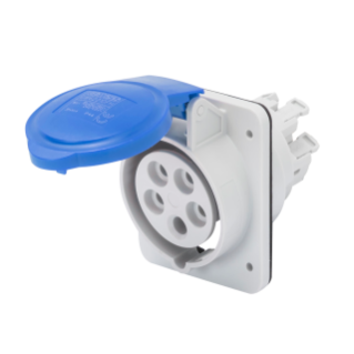 10° ANGLED FLUSH-MOUNTING SOCKET-OUTLET HP - IP44/IP54 - 3P+E 32A 200-250V 50/60HZ - BLUE - 9H - FAST WIRING