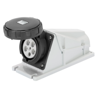 90° ANGLED SURFACE-MOUNTING SOCKET-OUTLET - IP67 - 3P+E 125A 480-500V 50/60HZ - BLACK - 7H - SCREW WIRING