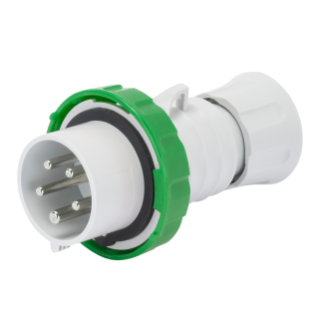 STRAIGHT PLUG HP - IP66/IP67/IP68/IP69 - 2P+E 16A >50V 100-300HZ - GREEN - 10H - SCREW WIRING