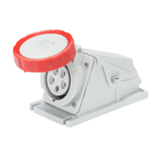 90° ANGLED SURFACE-MOUNTING SOCKET-OUTLET - IP67 - 3P+E 32A 380-440V 50/60HZ - RED - 3H - SCREW WIRING