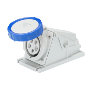90° ANGLED SURFACE-MOUNTING SOCKET-OUTLET - IP67 - 3P+N+E 32A 200-250V 50/60HZ - BLUE - 9H - SCREW WIRING