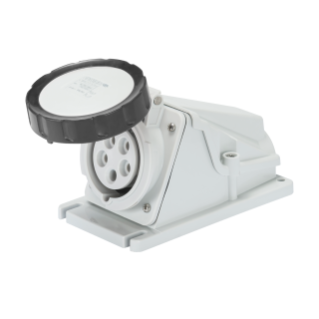 90° ANGLED SURFACE-MOUNTING SOCKET-OUTLET - IP67 - 3P+E 32A 480-500V 50/60HZ - BLACK - 7H - SCREW WIRING