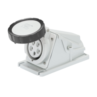 90° ANGLED SURFACE-MOUNTING SOCKET-OUTLET - IP67 - 3P+E 16A 480-500V 50/60HZ - BLACK - 7H - SCREW WIRING
