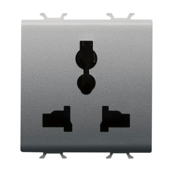 Multistandard socket-outlet - 250/127 V ac