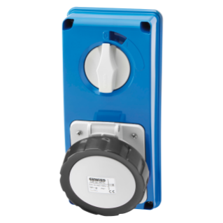 VERTICAL FIXED INTERLOCKED SOCKET OUTLET - WITHOUT BOTTOM - WITHOUT FUSE-HOLDER BASE - 3P+E 16A 480-500V - 50/60HZ 7H - IP67