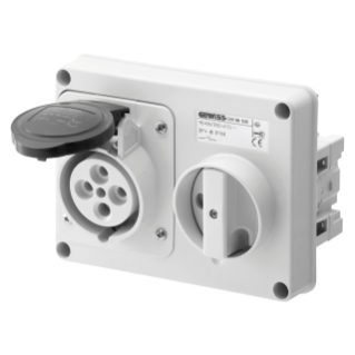 FIXED INTERLOCKED HORIZONTAL SOCKET-OUTLET - WITHOUT BOTTOM - WITHOUT FUSE-HOLDER BASE - 3P+E 32A 480-500V - 50/60HZ 7H - IP44