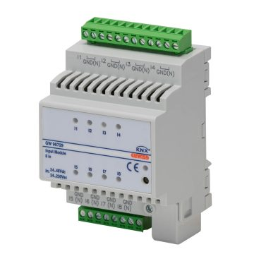 KNX 8-channel ac/dc voltage input module - IP20 - DIN rail mounting