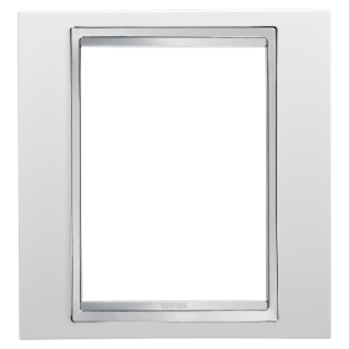 LUX PLATE - BRITISH STANDARD - TECHNOPOLYMER - 1 GANG  - MILK WHITE - CHORUS