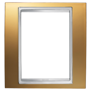 LUX PLATE - BRITISH STANDARD - METALLISED TECHNOPOLYMER - 1 GANG  - GOLD - CHORUS