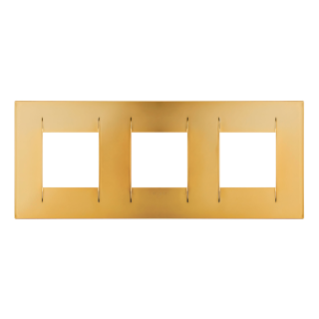 GEO INTERNATIONAL PLATE - IN METALLISED TECHNOPOLYMER - 2+2+2 GANG HORIZONTAL - GOLD  - CHORUS