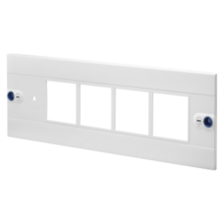 PANNEAU FRONTAL POUR INSTRUMENTS DE MESURE ET COMMUTATEURS - CVX 160I/160E - 24 MODULES - 4 INSTRUMENTS AU FORMAT 96X96 - 600X200