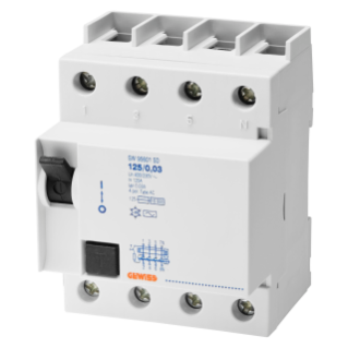 RESIDUAL CURRENT CIRCUIT BREAKER - IDP - 4P 125A TYPE A INSTANTANEOUS Idn=0,3A - 4 MODULES