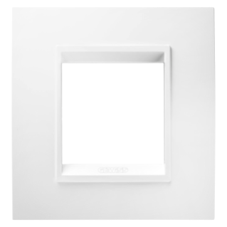 LUX INTERNATIONAL PLATE - IN TECHNOPOLYMER - 2 GANG - MILK WHITE MONOCHROME - CHORUS