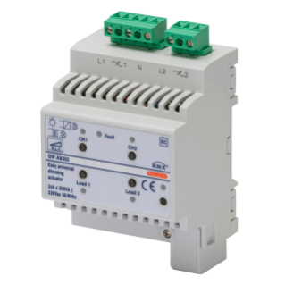 EASY UNIVERSAL DIMMER ACTUATOR - EASY - IP20 - 2 CHANNELS - 4 MODULES - DIN RAIL MOUNTING