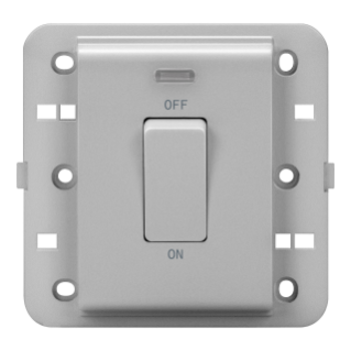 ONE-WAY SWITCH 2P 250V ac - BRITISH STANDARD - 20 A - 1 GANG - BACKLIT - TITANIUM - CHORUS