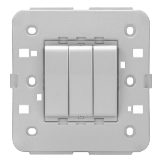 ONE-WAY SWITCH 1P 250V ac - 16AX - BRITISH STANDARD - 16 AX - 3 GANGS - TITANIUM - CHORUS