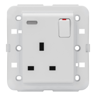 SWITCHED SOCKET-OUTLET - BRITISH STANDARD - 2P+E 13 A - BACKLIT - WHITE - CHORUS