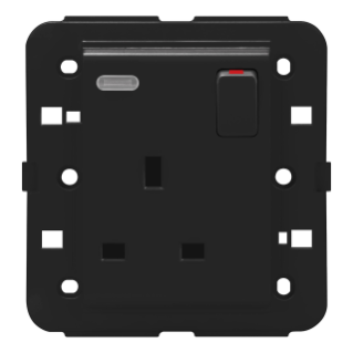 SWITCHED SOCKET-OUTLET - BRITISH STANDARD - 2P+E 13 A - BACKLIT - BLACK - CHORUS