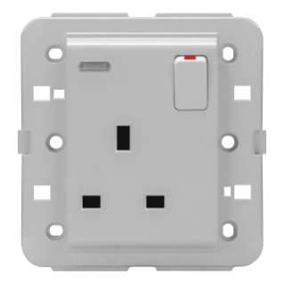 SWITCHED SOCKET-OUTLET - BRITISH STANDARD - 2P+E 13 A - BACKLIT - TITANIUM - CHORUS