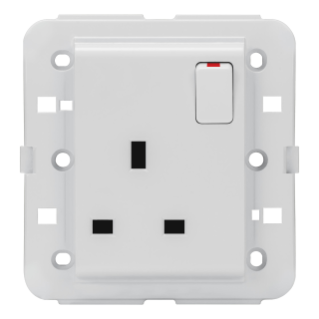 SWITCHED SOCKET-OUTLET - BRITISH STANDARD - 2P+E 13 A - WHITE - CHORUS