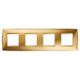 ONE INTERNATIONAL PLATE - IN METALLISED TECHNOPOLYMER - 2+2+2+2 GANG HORIZONTAL - GOLD - CHORUS